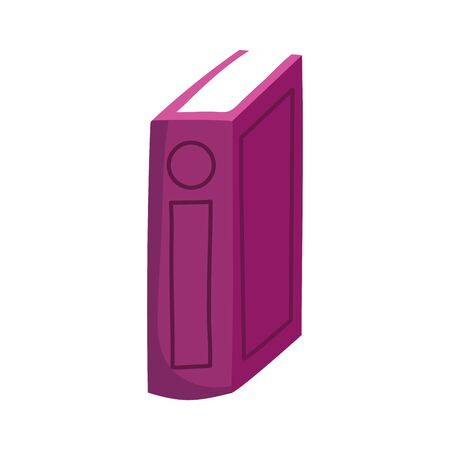 book day, standing thin book learning isolated icon vector illustration Illustration