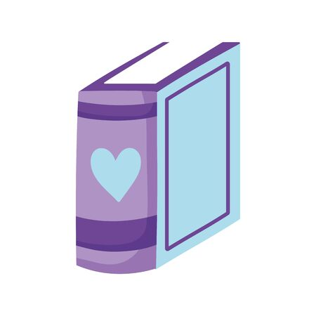 book day, standing thin book learning isolated icon vector illustration Imagens - 143197022