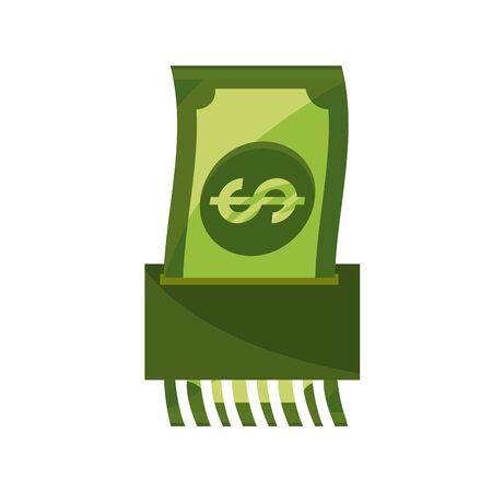money crisis stock market crash isolated icon