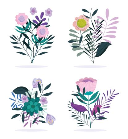 happy mothers day, flowers foliage nature style icons