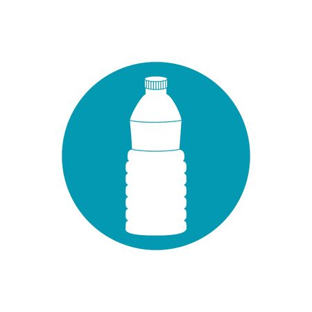 drinks plastic bottle water hydration blue block style icon