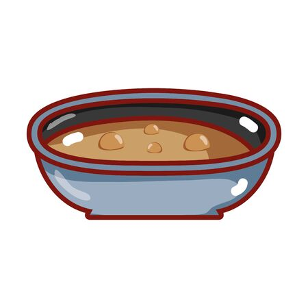 bowl with soup nutrition food isolated icon vector illustration Illustration