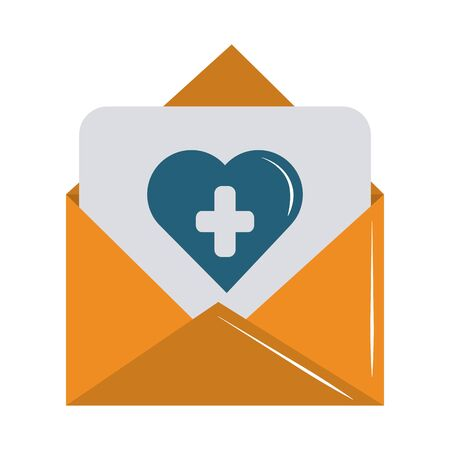 online doctor message medical support care flat style icon vector illustration