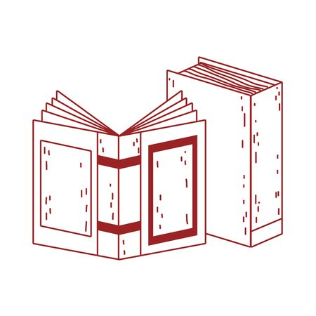 book day, open textbook learn isolated icon design vector illustration line style