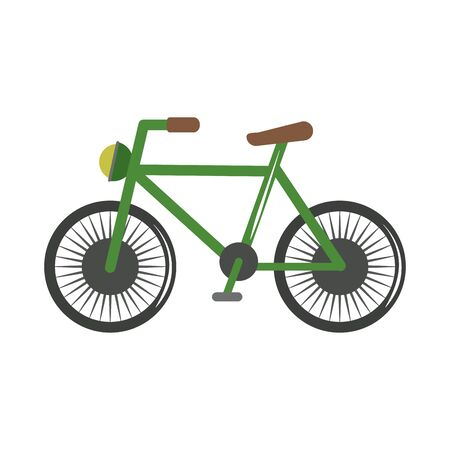 bicycle vehicle transport recreational flat style icon vector illustration
