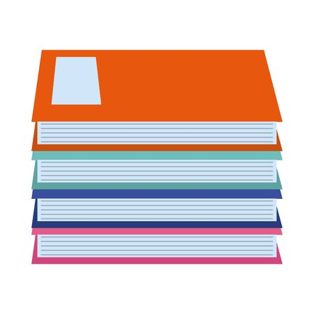 pile of books literature knowledge home education vector illustration flat style icon Illustration