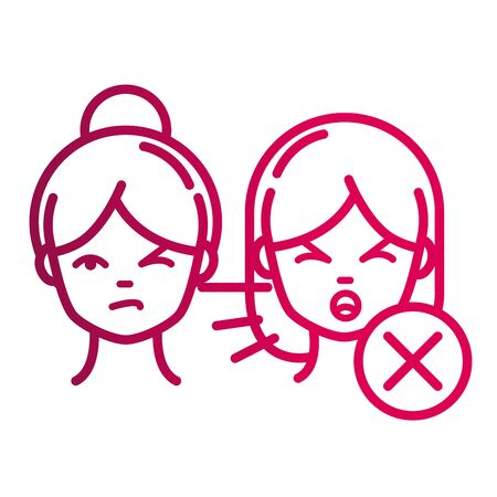 not coughing people without protection prevent spread of covid19 gradient icon