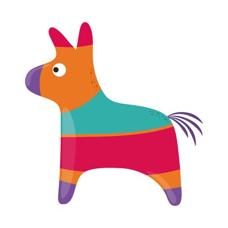 donkey pinata decoration party cinco de mayo mexican celebration vector illustration flat style icon