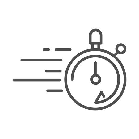 stopwatch speed cargo shipping related delivery vector illustration line style icon Foto de archivo - 143605357