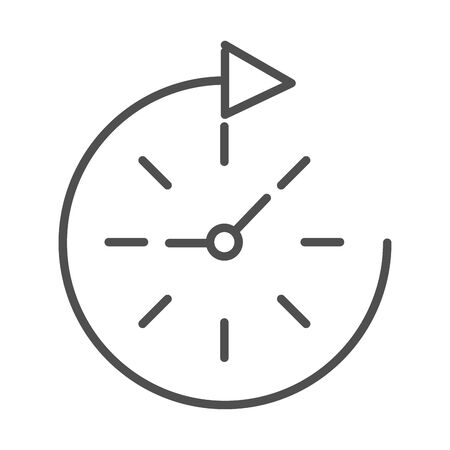speed clock time cargo shipping related delivery line style icon 向量圖像