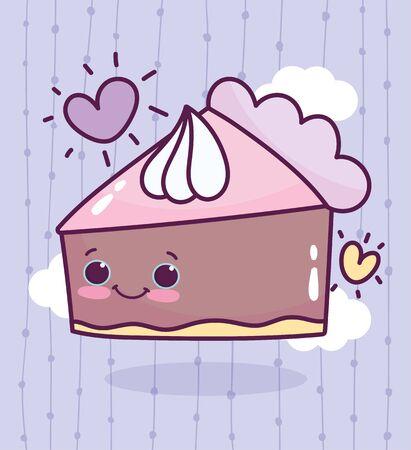 food cute cake cream love heart drawing cartoon