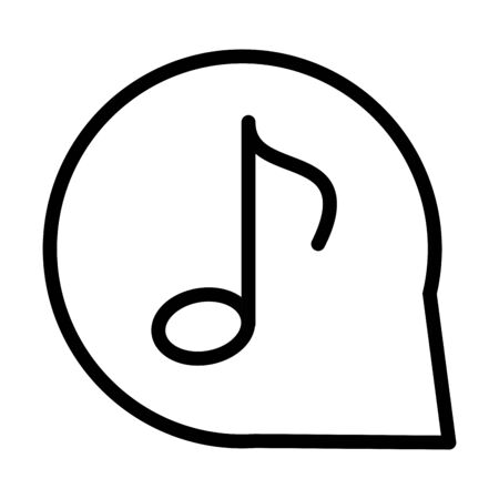 note music bubble sound line style icon vector illustration