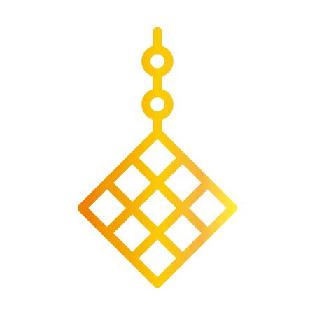 decoration ornament ramadan arabic islamic celebration gradient line icon 向量圖像