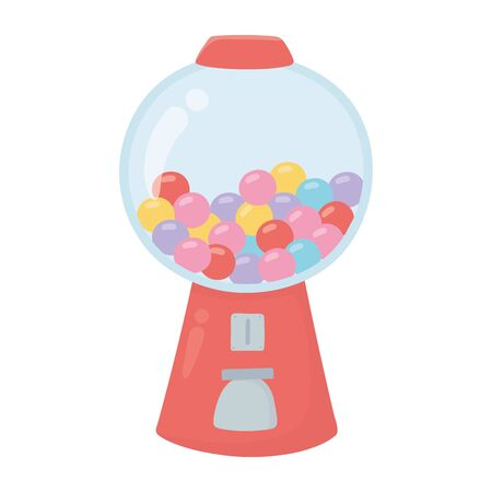 gumball dispenser sweet candy confectionery isolated icon
