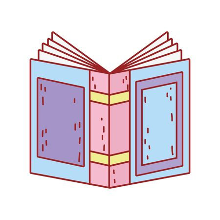 book day, open textbook cover isolated icon design