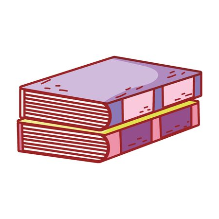 book day, pile textbooks hardcover isolated icon design