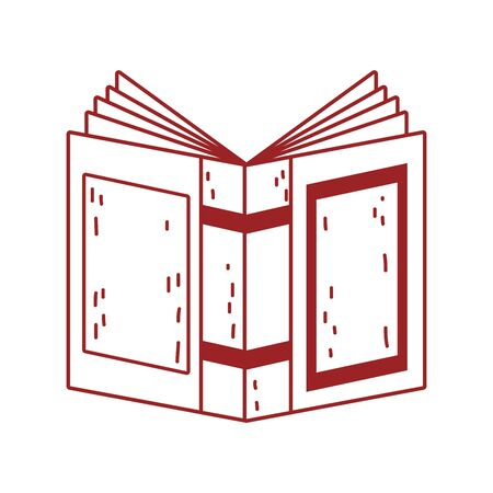 book day, open textbook cover isolated icon design vector illustration line style 向量圖像