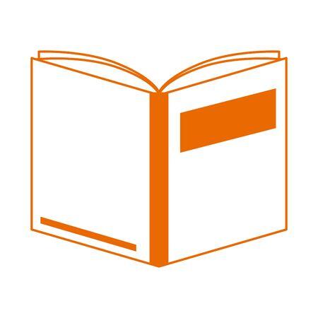 open book literature read home education line color style icon