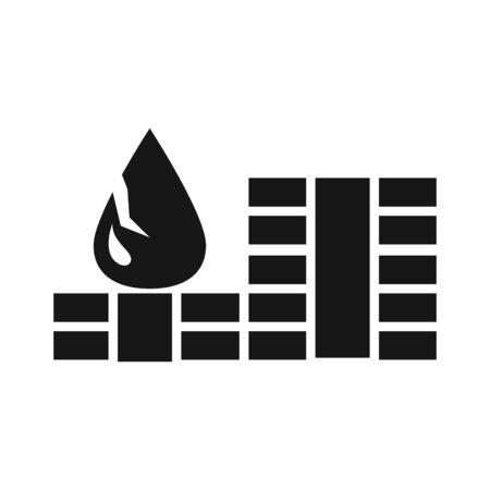 chart finance trade crisis economy, oil price crash vector illustration silhouette style icon