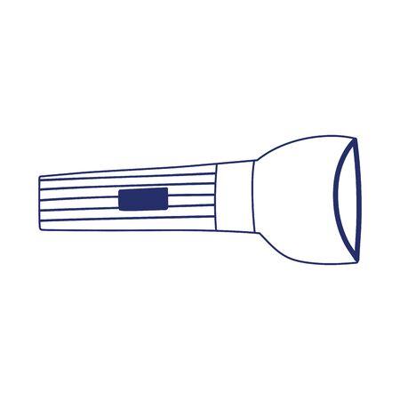 flashlight equipment isolated icon design vector illustration line style