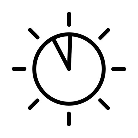 dial knob button sound line style icon vector illustration