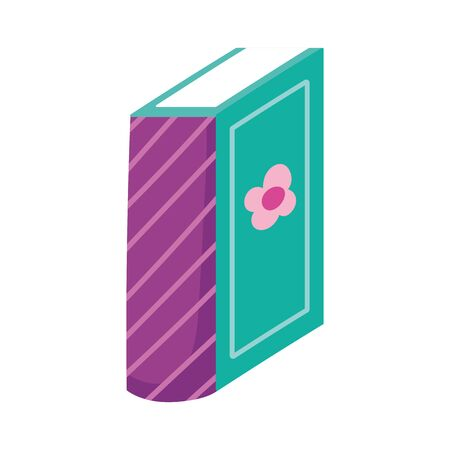 book day, standing thin book learning isolated icon vector illustration Ilustração