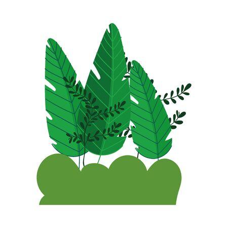 trees foliage nature bush branches plants isolated icon vector illustration Ilustração Vetorial