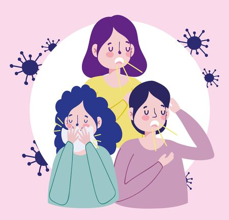 infected people with mask and dry wipes, covid 19 coronavirus pandemic prevention