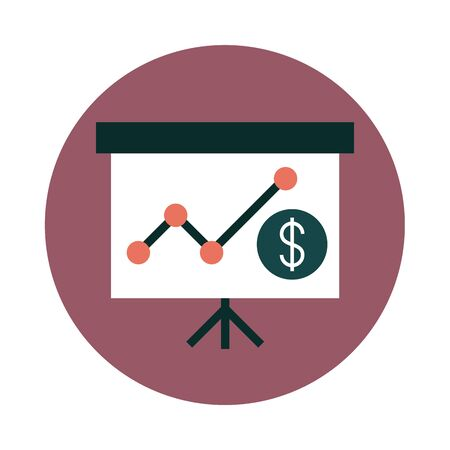 mobile banking, presentation board report financial economy money block style icon