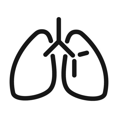 lungs organ breathing system medical and health care vector illustration line style icon