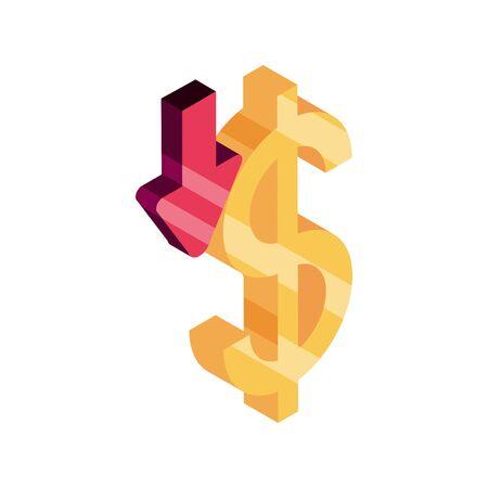online shopping, ordering ecommerce money isometric isolated icon