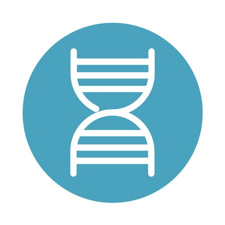 dna molecule science medical and health care vector illustration block style icon