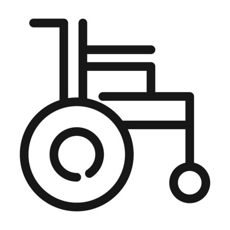 wheelchair disability equipment medical and health care vector illustration line style icon