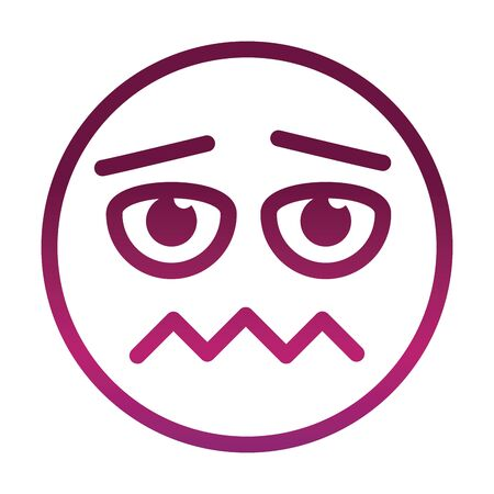 scared funny smiley emoticon face expression gradient style icon
