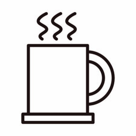 coffee cup aroma hot celebration vector illustration line style icon