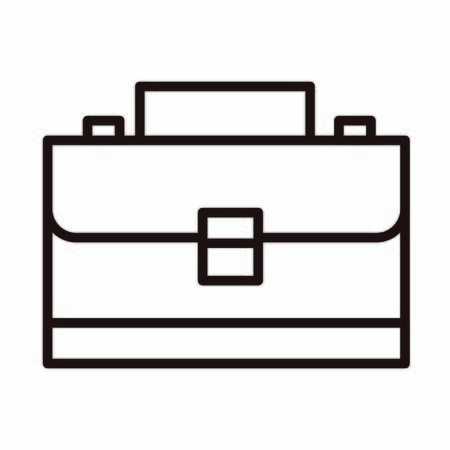 business suitcase accessory celebration vector illustration line style icon Stock Illustratie