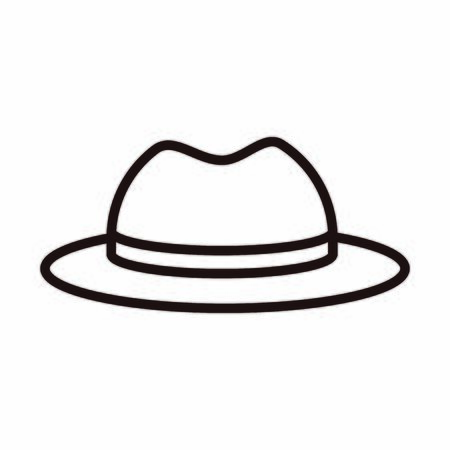 hat gentleman accessory celebration vector illustration line style icon