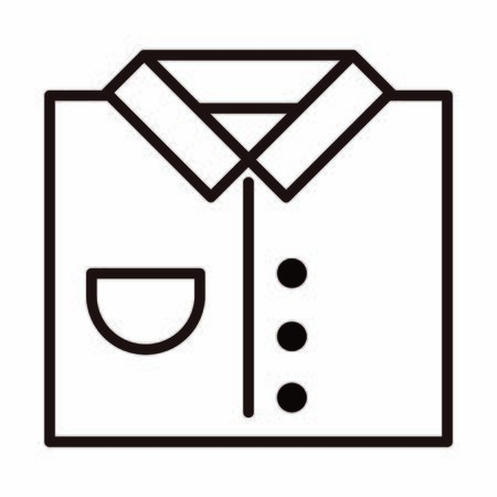 shirt clothes gift celebration vector illustration line style icon