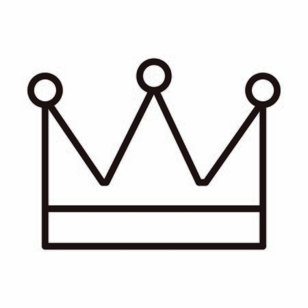 king crown decoration celebration vector illustration line style icon Stock Illustratie