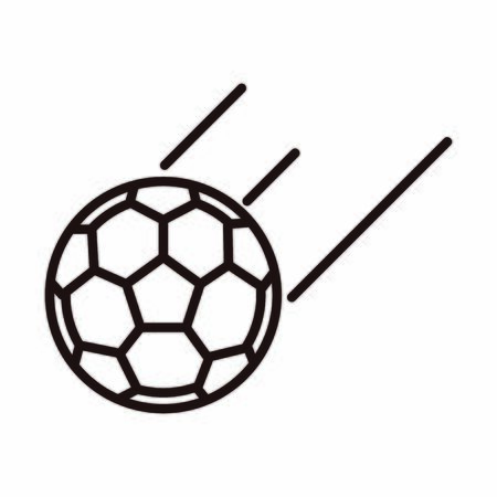 football ball equipment sport vector illustration line style icon