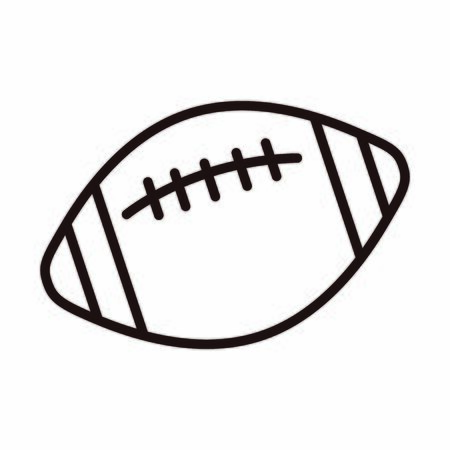 american football ball sport equipment vector illustration line style icon