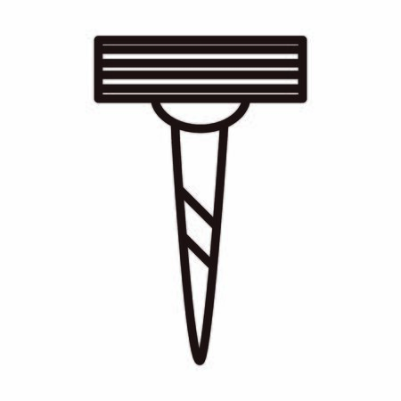 men razor equipment line style icon vector illustration