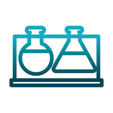 test tube beaker chemical laboratory science and research vector illustration gradient style icon