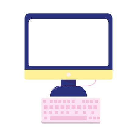 computer keyboard device technology isolated icon on white background vector illustration