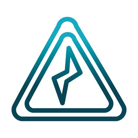 power danger sign laboratory science and research vector illustration gradient style icon