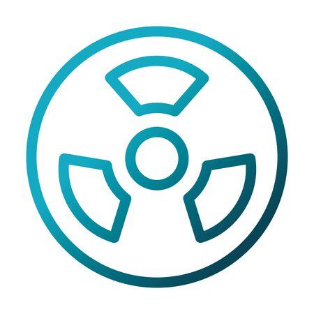 nuclear medicine symbol laboratory science and research vector illustration gradient style icon Illusztráció