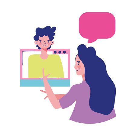 education online, computer monitor book bulb idea message vector illustration