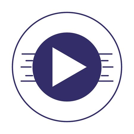 video player button music design isolated icon vector illustration  イラスト・ベクター素材