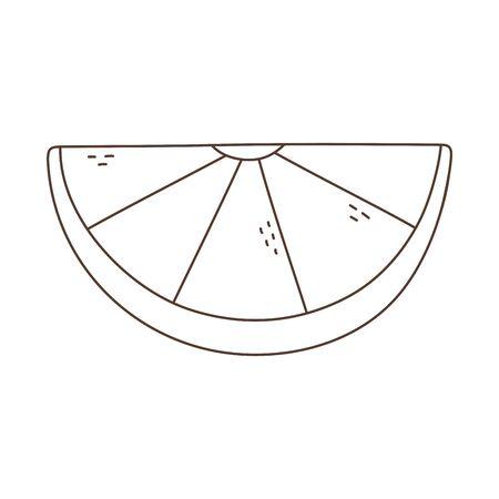 slice lemon fruit isolated icon white background linear design