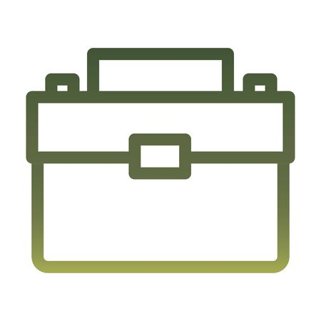 Suitcase bag gradient style icon design, Case office school university travel baggage luggage handle leather and trip theme Vector illustration Çizim